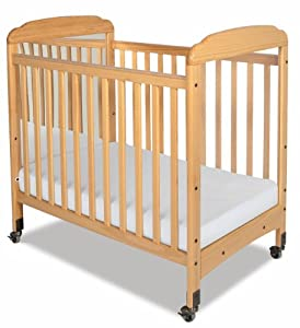 Foundations Serenity Compact Sized Mirror End Crib, Natural (Discontinued by Manufacturer)