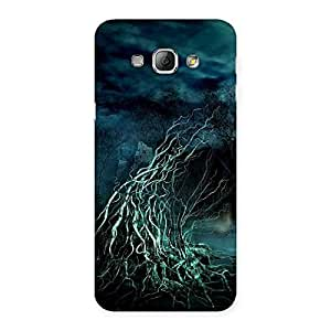Stylish Horror Tree Multicolor Back Case Cover for Galaxy A8