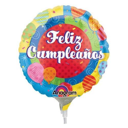 Amazon.com: Feliz Cumpleanos Caritas Mini Anagram Balloons ...