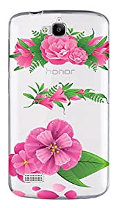 WOW Transparent Printed Back Cover Case For Huawei Honor 3C