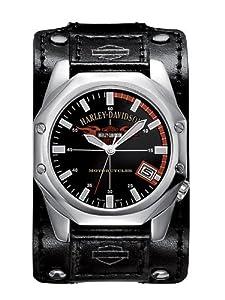 Harley Davidson Men's Leather Strap Watch 76B146 - YouTube