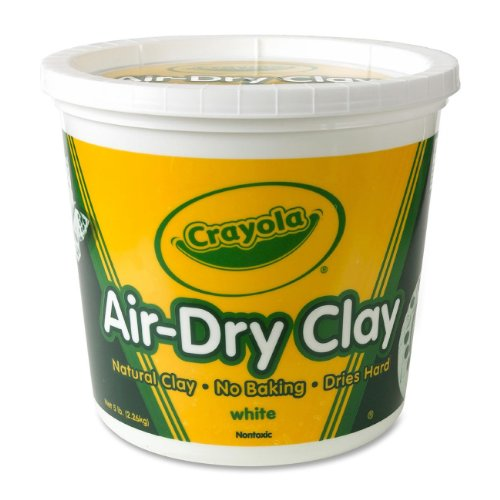 3 Pack AIRDRY CLAY 5LB BUCKET WHITE Drafting, Engineering, Art (General Catalog)