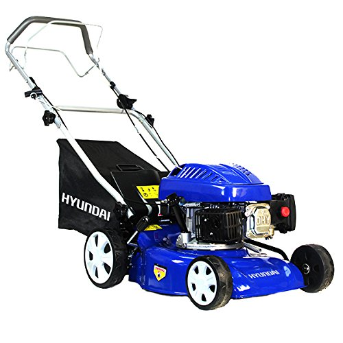 hyundai-hym43sp-139-cc-self-propelled-rotary-petrol-lawn-mower-soft-grip-handle-six-heights