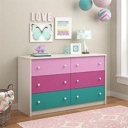 Kaleidoscope Whimsy 6-drawer Dresser by Cosco