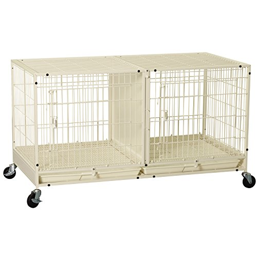 ProSelect Steel Modular Pet Cage with Plastic Tray, Ivory (Dog Modular Cage compare prices)
