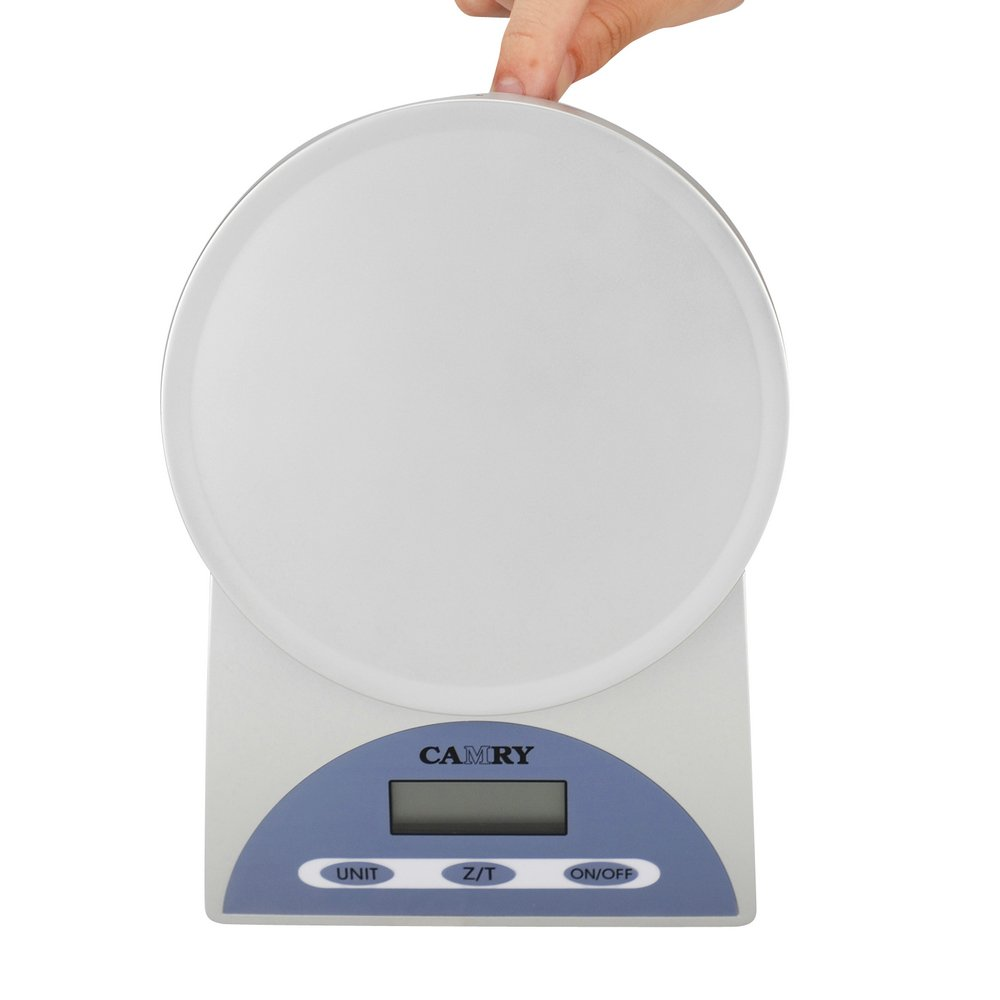 Camry Compact Digital Food Measuring Scale Kitchen Balance with Touch Button LCD Display, 11lb 5kg by 1 Gram,Grey at Sears.com