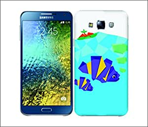 Galaxy Printed 2541 Orgami Fish Hard Cover for Samsung A3