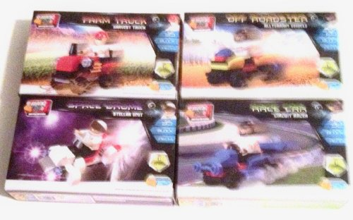 Block Tech Construction Blocks Bundle of 4 Models ((128 Pieces Total) - 1