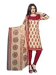 Krishna Present All New Design Of Cream color Cotton Printed Dress, Salwar Ka...