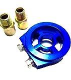 【kazutoku】 オイル ブロック 油温 油圧計 センサー サンドイッチ センター ボルト ブルー