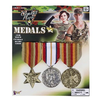 Combat Hero Medals 3 Per Set