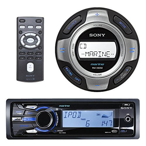 Sony DSXMS60 Marine Boat MP3 USB iPod iPhone Radio Receiver RMX60M Wired Remote (Sony Car Wired Remote compare prices)