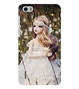 ColourCraft Cute Doll Back Case Cover for HUAWEI HONOR 6