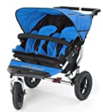Out n About Double Nipper 360 v3 Narrow TWIN Baby Pushchair (Lagoon Blue)