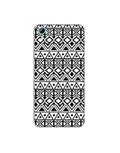 HTC Desire 826 Ethnic-monochrome-pattern-01 Mobile Case (Limited Time Offers,Please Check the Details Below)
