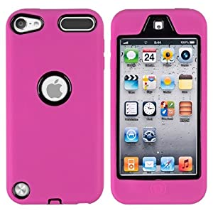 CommonByte Deluxe Hot Pink Hybrid Hard Gel Cover Case For iPod Touch 5 5G Generation 5th