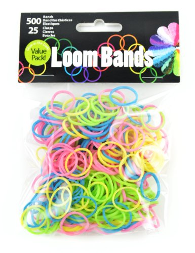 Touch of Nature 525-Piece Loom Bands, Glow-in-The-Dark Assortment