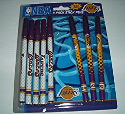 NBA Los Angeles Lakers 8 Pack Stick Pens