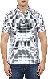 Robert Graham Men\'s X-Label Onboard Short-Sleeve Polo Shirt, Multi, X-Large