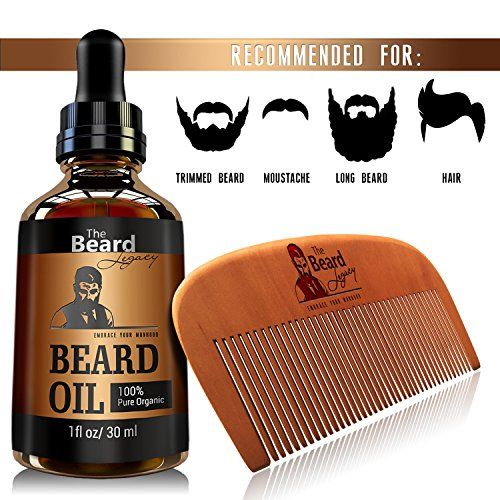 premium beard comb beard oil kit for men made in usa. Black Bedroom Furniture Sets. Home Design Ideas