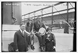 Fairbanks, Mrs, boat passengers, actresses, actor: Posters & Prints