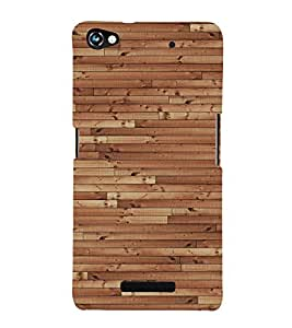 Dark Barn Wood 3D Hard Polycarbonate Designer Back Case Cover for Micromax Canvas Hue 2 A316