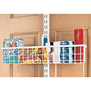 Organized Living Over The Door Basket, 18-Inch by 4-Inch, White
