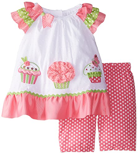 Rare Editions Baby Baby Girls Cupcake Applique Pant Set