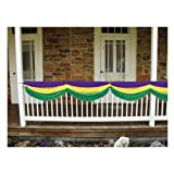 Mardi Gras Fabric Bunting (golden-yellow, green, purple) Party Accessory  (1 count) (1/Pkg)