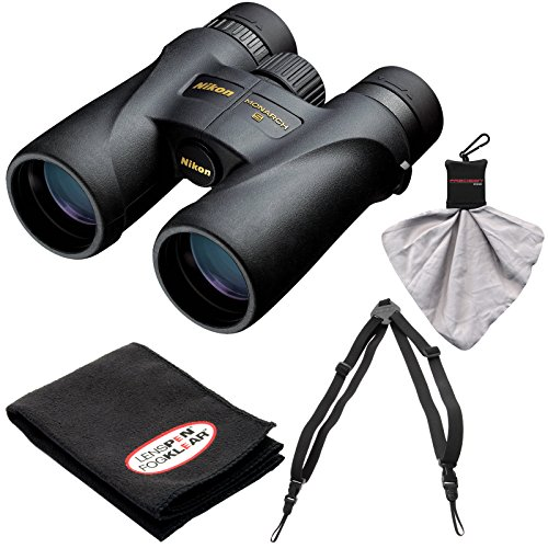 Nikon Monarch 5 10x42 ED ATB Waterproof/Fogproof Binoculars with Case + Easy Carry Harness + Cleaning Cloth Kit (Nikon Harness compare prices)