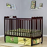 Dream On Me Classic 2 in 1 Convertible Stationary Side Crib, Cherry