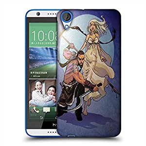 Snoogg Love Fight Designer Protective Back Case Cover For HTC Desire 820