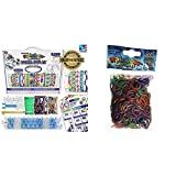 Rainbow Loom Bracelet Craft Kit & Chameleon Mood Change Rubber Bands with 24 C-Clips (600 Count)