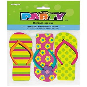 Pack Of 12 Flip Flop Note Pads 11cm X 5cm.