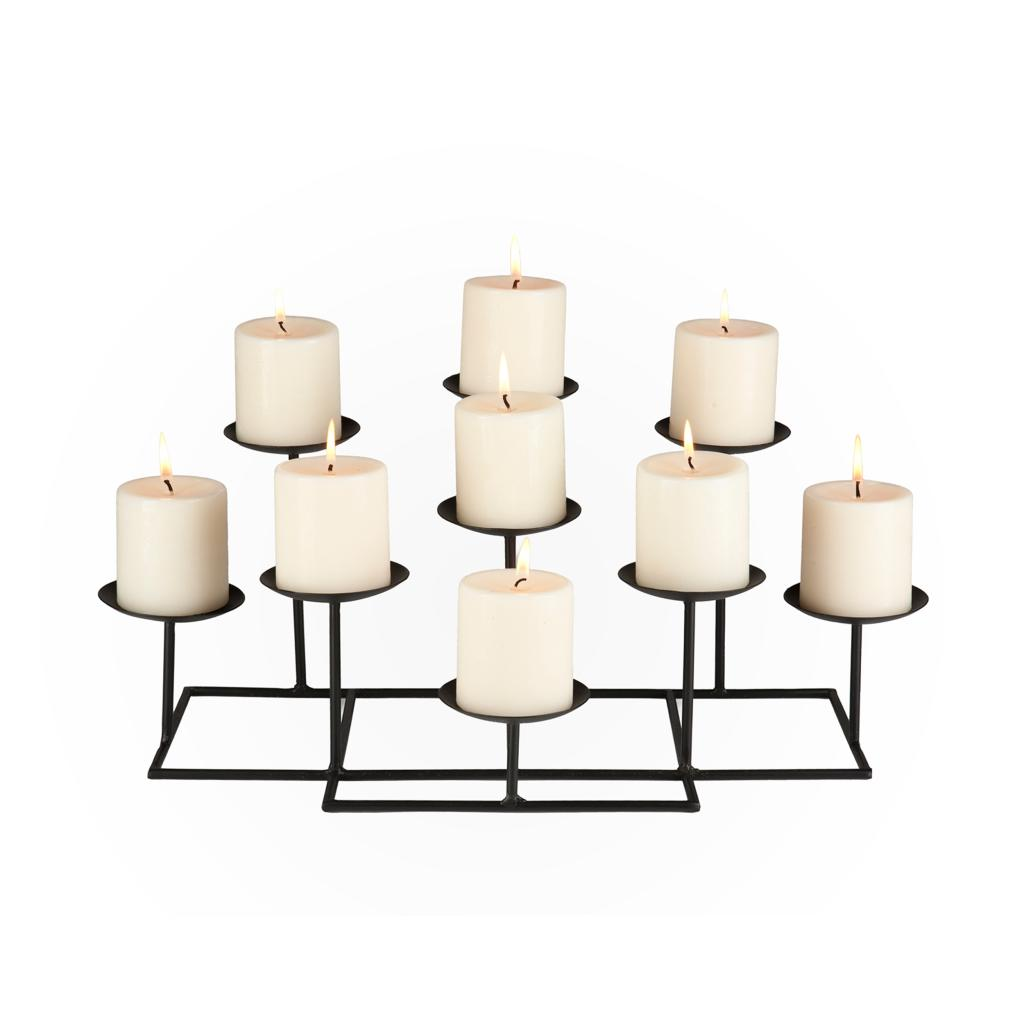 Amazon Com 9 Candle Metal Candelabra Candle Holders