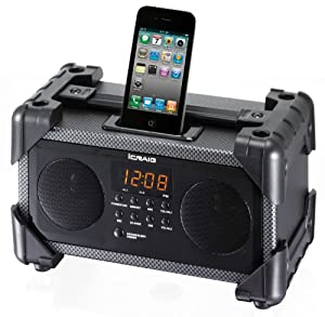 Craig Dual Alarm Industrial iPod/iPhone Docking Alarm Clock (CMB3228)