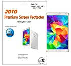 JOTO - Samsung Galaxy Tab S (8.4 inch) Screen Protector Film, Ultra Crystal Clear (Invisible) Scratch Resistant, exclusive for 2014 Galaxy Tab S 8.4 (SM-T700), with Lifetime Replacement Warranty (3 Pack)