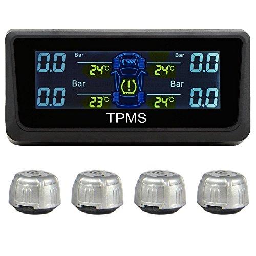RAXFLY タイヤ空気圧監視システム タイヤ空気圧温度測定 リアルタイム監視 4センサー LEDモニター