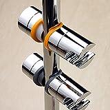 【福美康】 シャワー フック スライド バー 用 掛具 22-25 mm 角度 調節 可変 調整 自由 自在 (グレー)