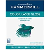 Hammermill Color Laser Gloss Paper, 94 Brightness, 32lb, Letter Size, 300 Sheets per Pack (16311-0)