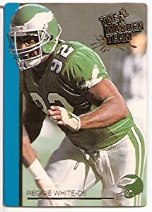 "1991 Action Packed ""All Madden Team"" NFL Football Card of Reggie White - Philadelphia Eagles - Shipped in Protective ScrewDown Display Case!!"