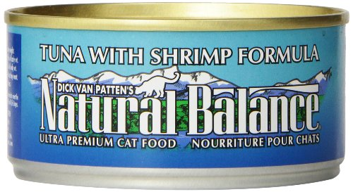 Natural Balance Canned Cat Food, Tuna and Shrimp Recipe, 24 x 6 Ounce Pack