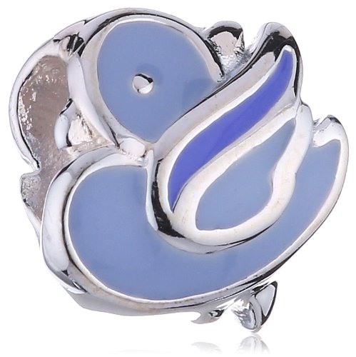 Kit Heath Children's Sterling Silver Blue Bird Charm Bead