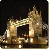 London Tower Bridge Print Single Coaster Gift Idea