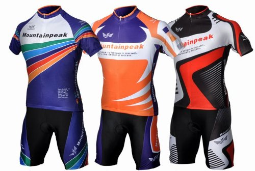 Muti-color Cycling Team Bike Bicycle Cycling Wear Mountain Short Shirt Jersey+bib Shorts Suit Sets