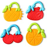 TEDO Baby Massage Soothe Teething Teeth Fruit Molar Teether Toys For Infant And Toddler BPA Free 100% Safe Soft...