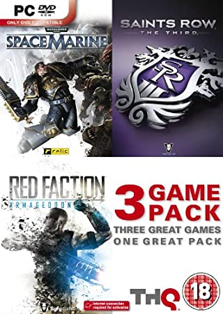 Saints Row The Third / Space Marine / Red Faction Armageddon Triple Pack (PC DVD)