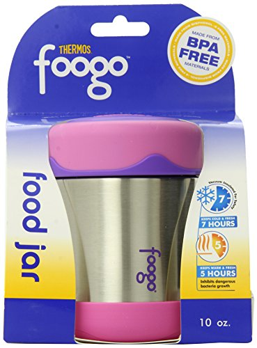 Thermos FOOGO Stainless Steel Food Jar, Pink, 10 Ounce