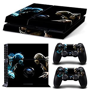 GoldenDeal PS4 Console and DualShock 4 Controller Skin Set - Kombat Duel - PlayStation 4 Vinyl Mortal Fight