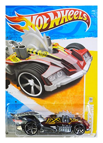 Hot Wheels 2011-028 New Models Buzzerk RED & SILVER HW For Real Card 1:64 Scale